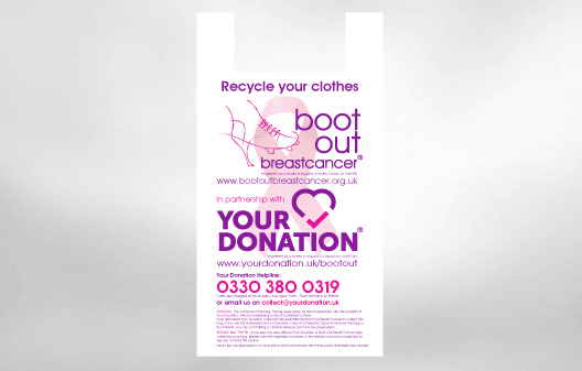 Boot Out Breast Cancer Clothes Bag